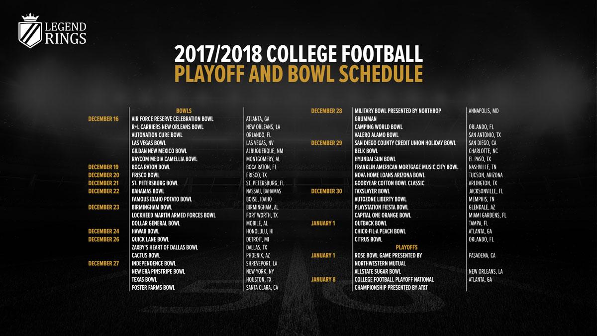 Legend Rings NCAA schedule wallpaper