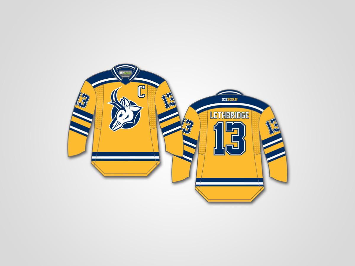 University of Lethbridge Pronghorns alternate jersey