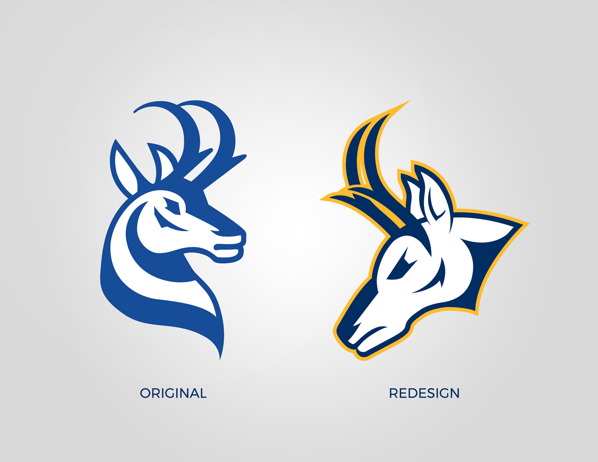 University of Lethbridge Pronghorns logo comparison