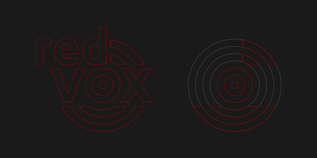 Red Vox logo construction