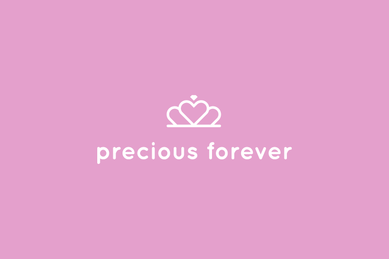 Precious Forever Logo inverted