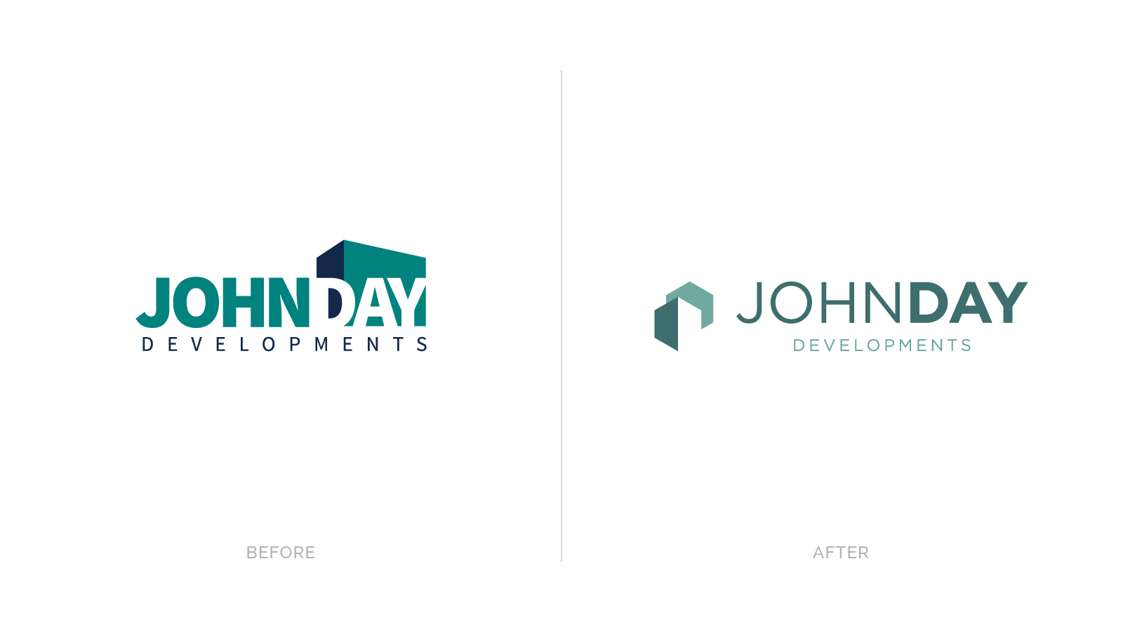 John Day logos before and after