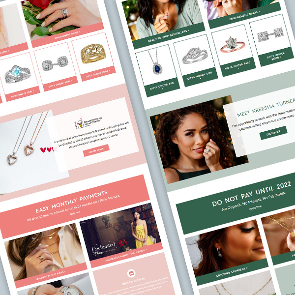 Paris Jewellers Landing Pages thumbnail