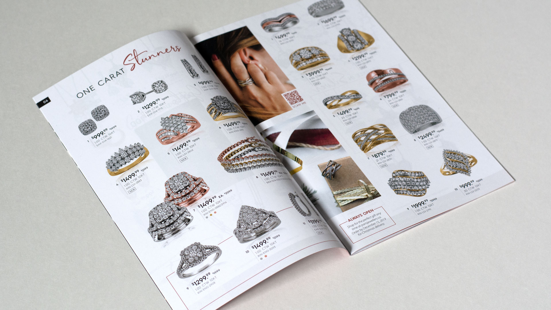 Paris Jewellers Moments 2019 hoilday flyer physical layout