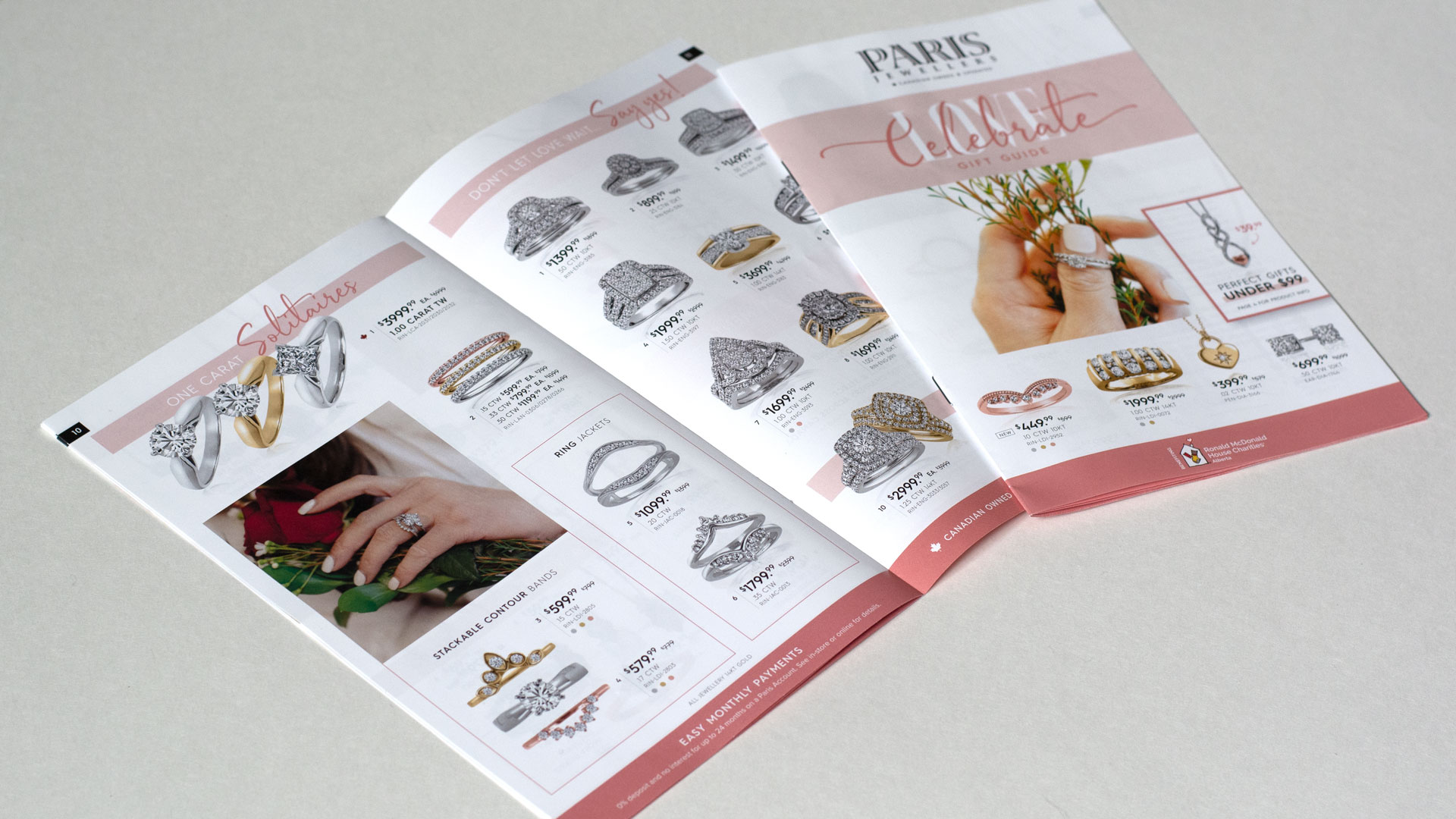 Paris Jewellers Valentines 2021 Flyer physical print layout